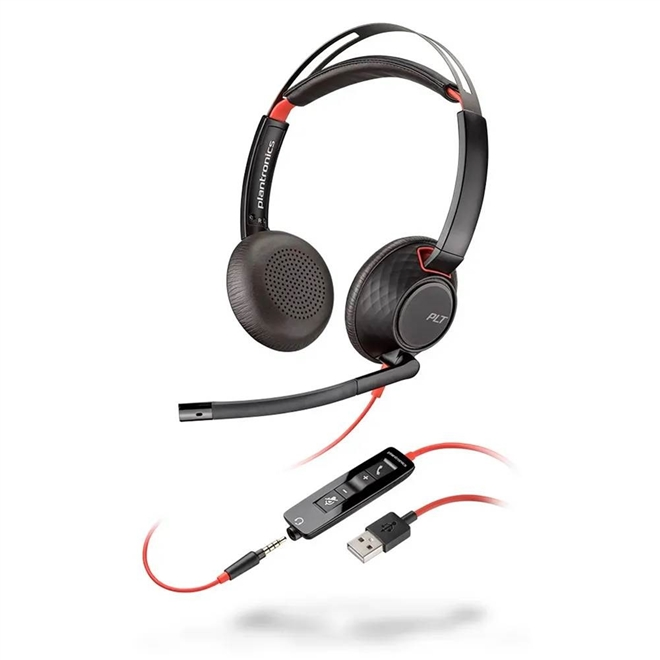 Headset com Fio USB Blackwire C5220 Plantronics
