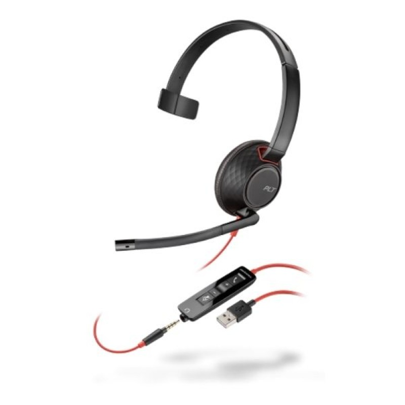 Headset com Fio USB Blackwire C5210 Plantronics